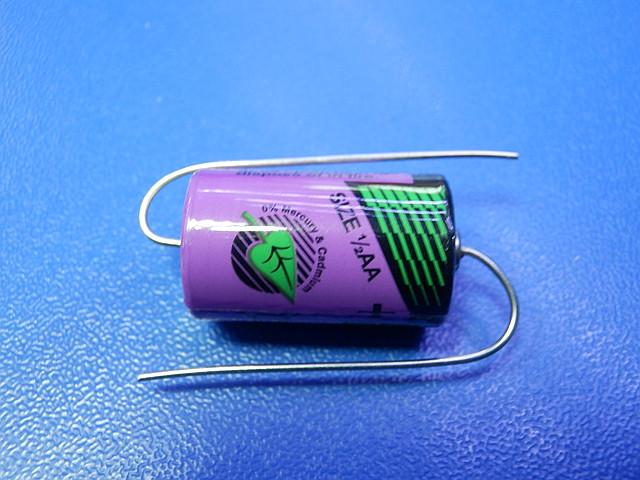Tadiran 1/2AA SL-750/P  Li-S0CI2 (3.6V 1100mAh)+tag