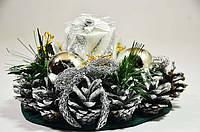 Подсвечник новогодний со свечкой 0555s
