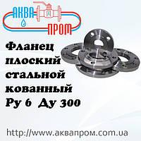 Фланец плоский стальной кованный Ру 6 Ду 300