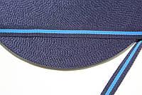 ТЖ 10мм репс (50м) т.синий+василек, фото 1
