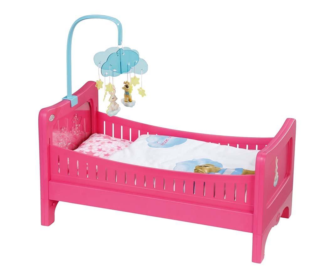 Кроватка для куклы Беби Борн интерактивная Спокойной ночи Baby Born Zapf Creation 822289