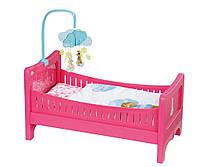 Кроватка для куклы Беби Борн интерактивная Спокойной ночи Baby Born Zapf Creation 822289, фото 1