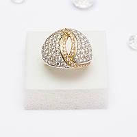 Золотое кольцо с цирконием 85365