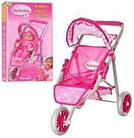 Кукольная коляска 417P-104 трехколесная АВ KK