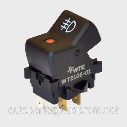 Кнопка ПТФ задних Ваз 2103, 06, 2121, 21214 (4-конт.) WTE