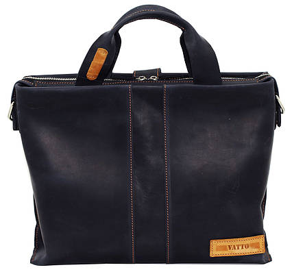Кожаная мужская сумка Mk34.1 синяя