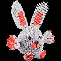 """Модульное оригами Бумагия """"Белый зайчик"""" 441 модуль ОМ6177"""