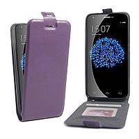 Чехол Flip Down Card Holder для Doogee Valencia 2 Y100 Pro фиолетовый