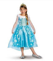 Платье Принцессы Эльзы Холодное сердце с короной. Делюкс. Размер 10-12