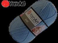 Пряжа Yarnart Baby 215 голубой