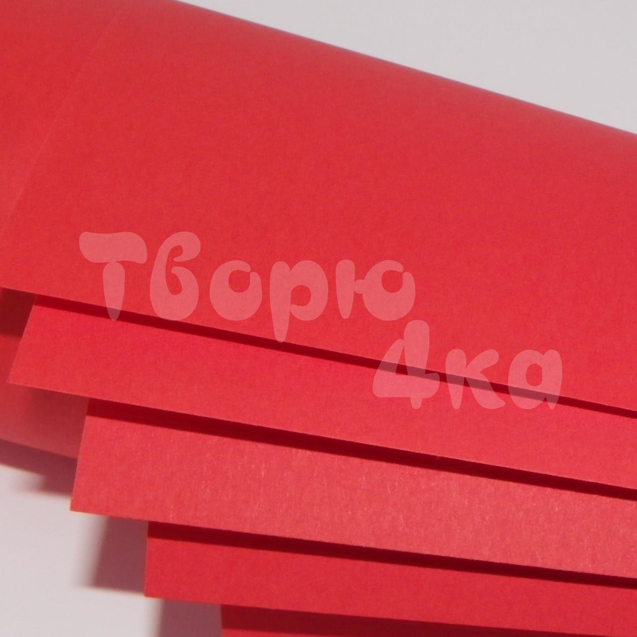 Бумага цветная А3 160 гр/м.кв deep red (красный)
