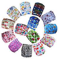 Подгузники многоразовые 3-16кг Флисовые для детей универсальные непромокаемые дышащие (Цветные), фото 1