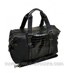 Сумка Чоловіча Дорожня позов-шкіра dr.Bond 88516 black, компактна сумка чорного кольору