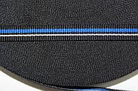 ТЖ 10мм репс (50м) черный+василек+белый, фото 1