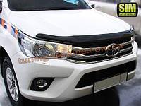 Дефлекторы капота Sim для Toyota Hilux пикап 2015