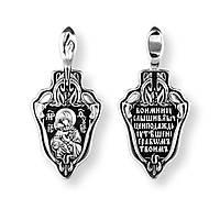 Образок серебряный Владимирская икона Божией Матери  8185