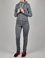 Женский спортивный костюм Adidas Originals 7166 Тёмно-серый