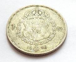 Швеция 1 крона, 1946 г