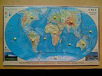 Развивающее пособие М.Монтессори Карта полушарий, фото 1
