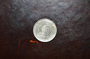 Швеция, 10 эре, 1941 год (Серебро)