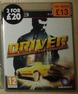 Видео игра Driver: San Francisco (PS3)