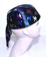 Шапка бандана с черепами (цветная) 090916-010