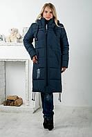 Зимнее пальто из плащевки 46-56 размеры CAROLINA цвет мурена