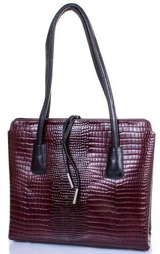 Кожаная   женская сумка DESISAN (ДЕСИСАН) SHI062-425 Бордовый