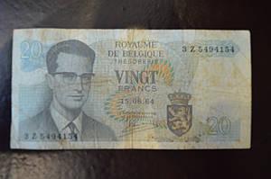 Бельгия 20 frank 1964 год