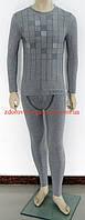 Турмалиновый оздоровительный мужской костюм термобелье с добавлением угольного бамбука