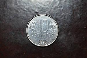 Бразилия 10 центавос 1995 год (АЗ-30)