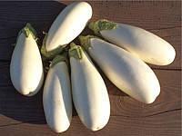 Баклажан Албино F1 семена гибрида с плодами овально-удлиненной формы белоснежного цвета