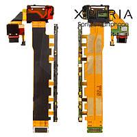 Шлейф для Sony E6553 Xperia Z3+, коннектора зарядки, кнопки включения, с компонентами (оригинальный)