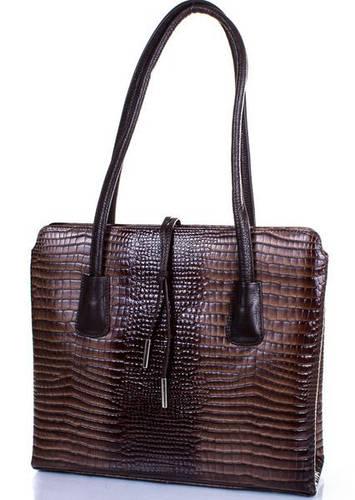 Кожаная женская сумка DESISAN (ДЕСИСАН) SHI062-426 Коричневый