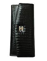 """Кошелек женский кожаный лаковый """"Chanel"""" кнопка"""
