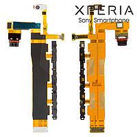 Шлейф для Sony E6508 Xperia Z4V, коннектора зарядки, кнопки включения, с компонентами, (LTE) (оригинальный)