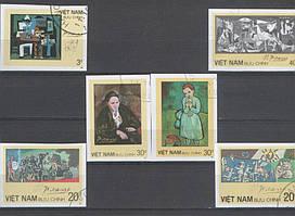 Живопись Вьетнам 1987 беззубцовые серия