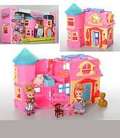 Раскладной домик для кукол с мебелью и животными SD181
