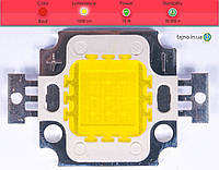 Светодиодная матрица прожектора красная (10 Вт)