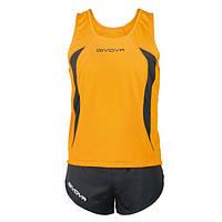Комплект формы для легкой атлетики Givova Kit Boston  Оранжевый/Черный, XS