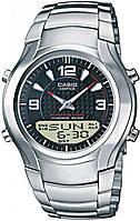 Мужские часы CASIO EFA-112D-1AVEF, черный циферблат, стальные