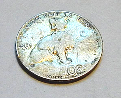 Бельгія 50 центів, 1901 р