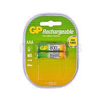Аккумуляторная батарейка AAA (R-3) GP 800 mAh (80AAAHC-U2)