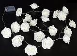 Светодиодная гирлянда розовые Розы 2м 20LED на батарейках АА, фото 5