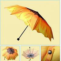 Топ товар! Оригинальный зонт «Подсолнух» от дождя и солнца