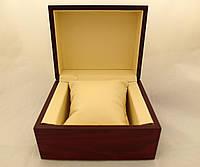 Деревянная шкатулка с подушечкой для часов, коробочка подарочная