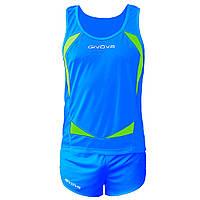 Комплект формы для легкой атлетики Givova Kit Sparta Синий/Желтый, XL