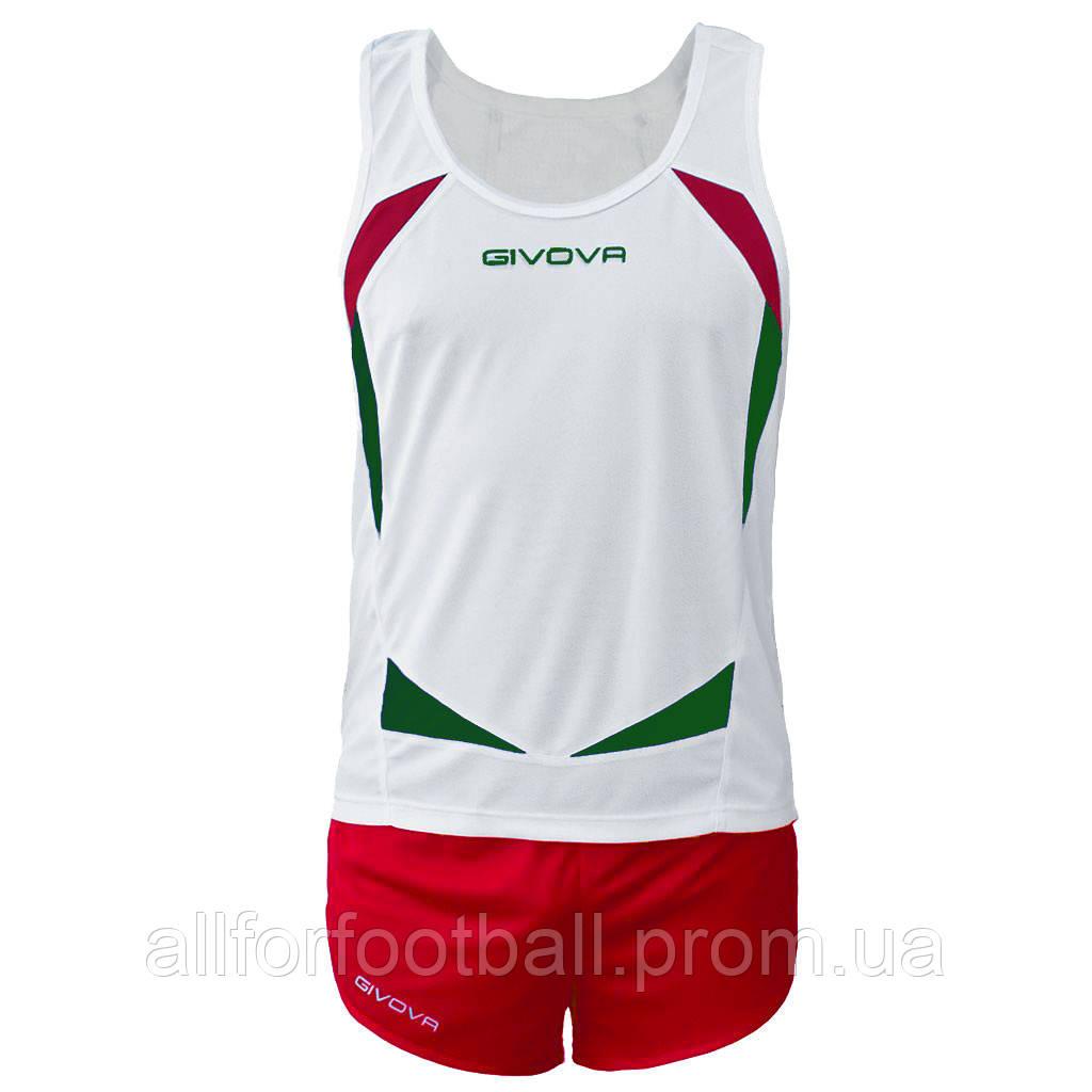 Комплект формы для легкой атлетики Givova Kit Sparta Белый/Красный, L - All for football в Харькове