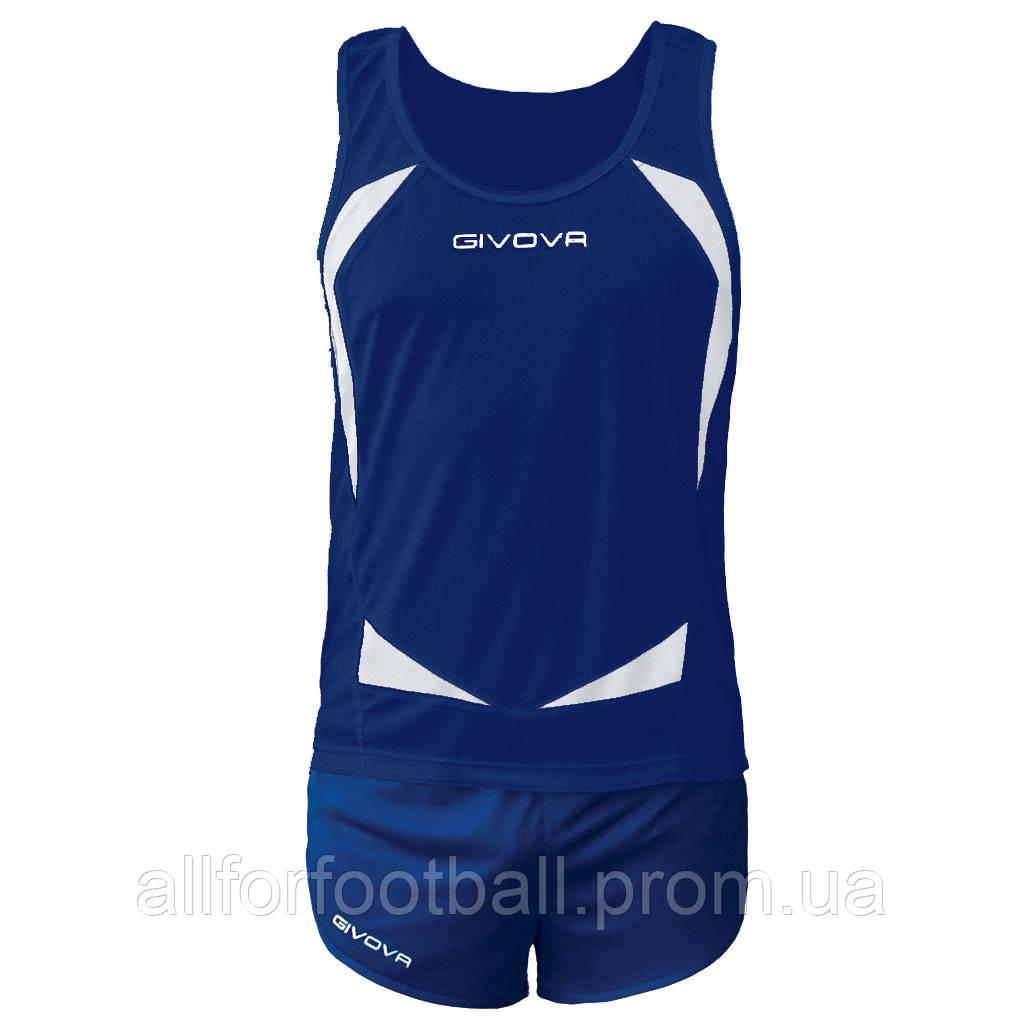 Комплект формы для легкой атлетики Givova Kit Sparta Синий/Белый, S - All for football в Харькове