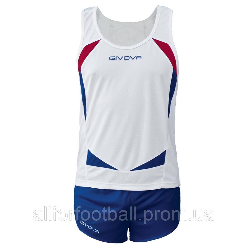 Комплект формы для легкой атлетики Givova Kit Sparta Белый/Синий, S - All for football в Харькове